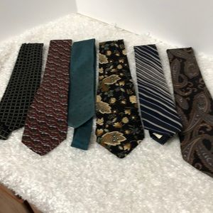 Men's Dress Ties   LOT OF 6 preowned